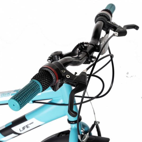 "Bicicleta copii 20"" LIFE A2030L, frana V-Brake,  18 viteze, varsta 7-10 ani, culoare albastru/alb 8"