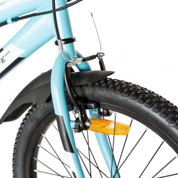"Bicicleta copii 20"" LIFE A2030L, frana V-Brake,  18 viteze, varsta 7-10 ani, culoare albastru/alb 2"