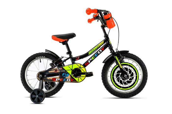 Bicicleta Copii Dhs 1603, roti16 Inch, roti ajutatoare, varsta 4 - 6 ani,Negru [0]