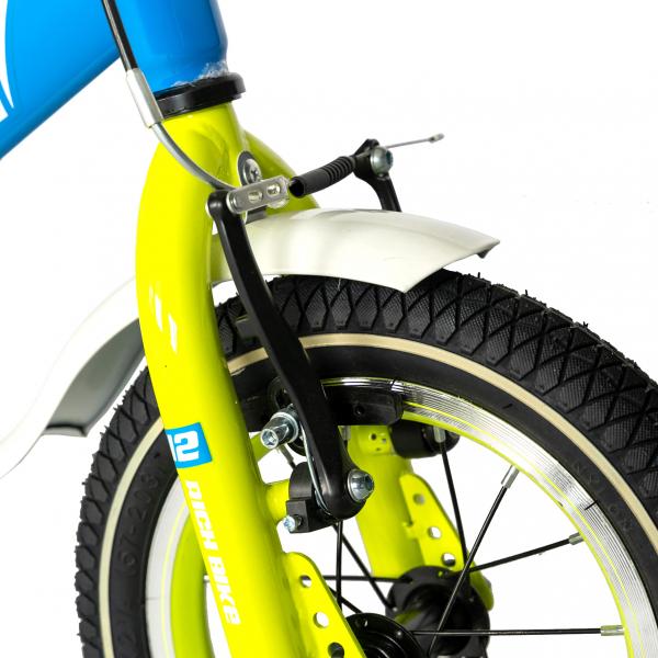 "Bicicleta copii Rich Baby T1603C, roata 16"", V-Brake,  roti ajutatoare, 4-6 ani, albastru/galben [5]"