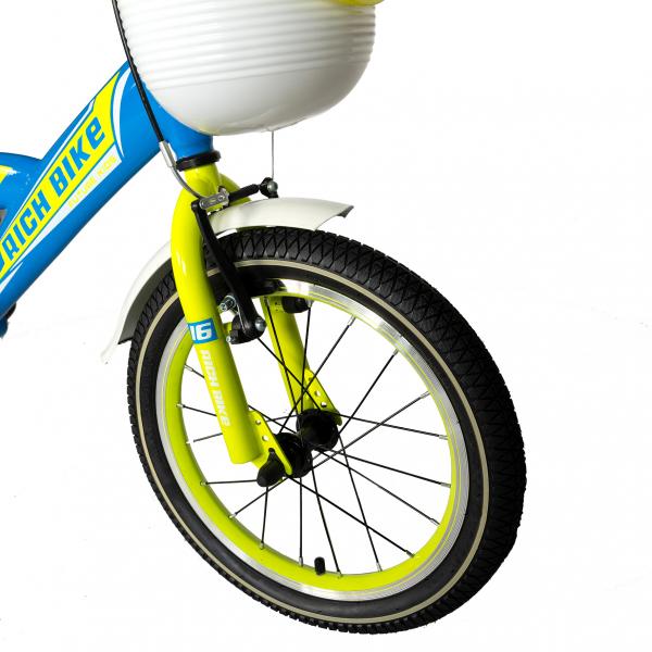 "Bicicleta copii Rich Baby T1603C, roata 16"", V-Brake,  roti ajutatoare, 4-6 ani, albastru/galben [4]"
