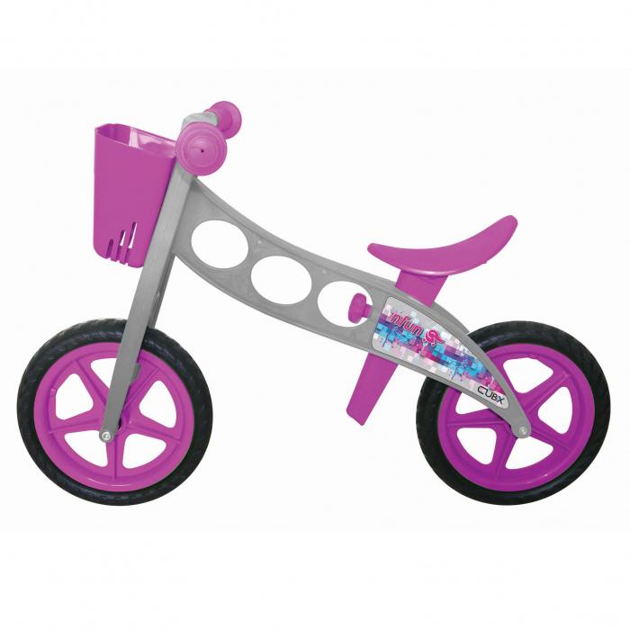 Bicicleta fara pedale (pedagogica) 'NFUN 'NRIDE CUBIX, Gri/Mov [0]