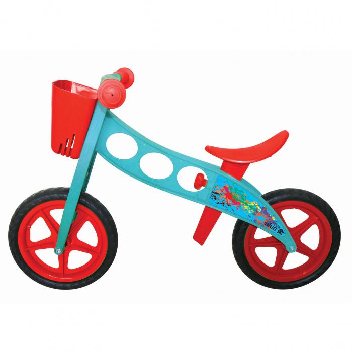 Bicicleta fara pedale (pedagogica) 'NFUN 'NRIDE POLLOCK, Rosu/Albastru [0]