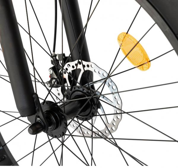 Bicicleta Fat Bike CARPAT Hercules 20 inch C2019B, frane mecanice disc, 6 viteze, culoare negru/portocaliu 8