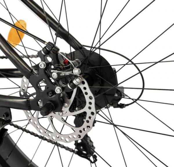 Bicicleta Fat Bike CARPAT Hercules 20 inch C2019B, frane mecanice disc, 6 viteze, culoare negru/portocaliu 7