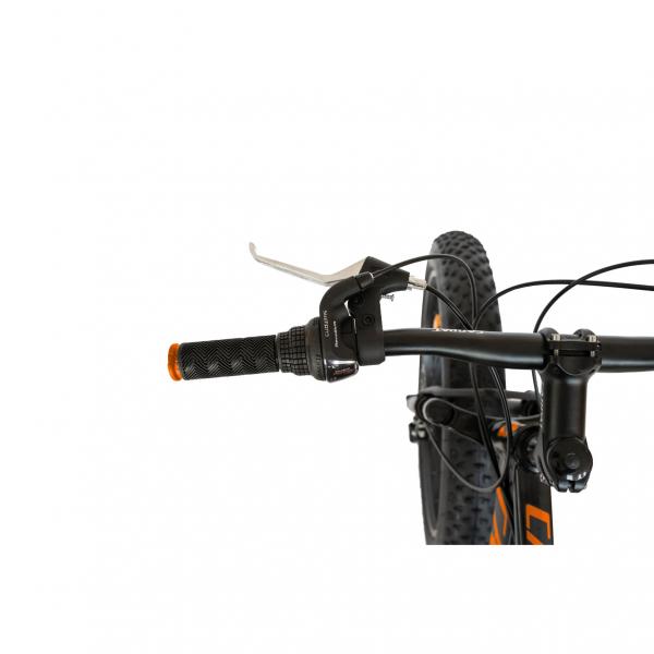 Bicicleta Fat Bike CARPAT Hercules 20 inch C2019B, frane mecanice disc, 6 viteze, culoare negru/portocaliu 6
