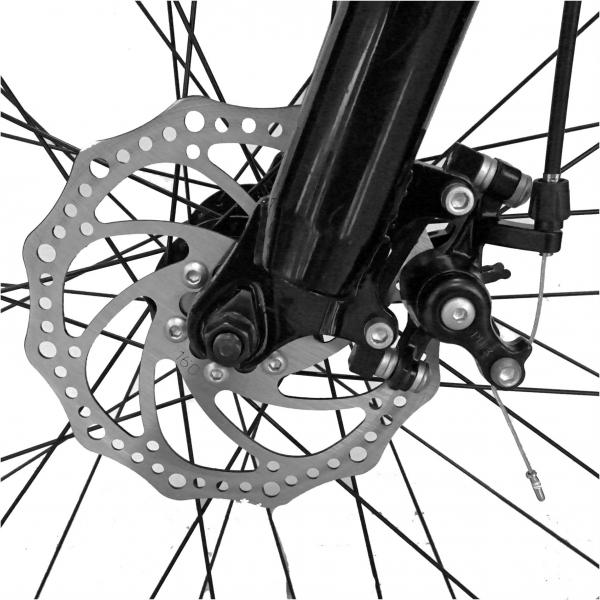 Bicicleta Fat Bike CARPAT Hercules 20 inch C2019B, frane mecanice disc, 6 viteze, culoare negru/portocaliu 9