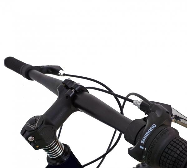 Bicicleta Fat Bike CARPAT Hercules 20 inch C2019B, frane mecanice disc, 6 viteze, culoare negru/albastru 5