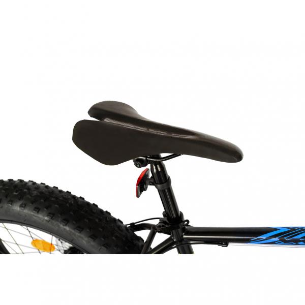 Bicicleta Fat Bike CARPAT Hercules 20 inch C2019B, frane mecanice disc, 6 viteze, culoare negru/albastru 1