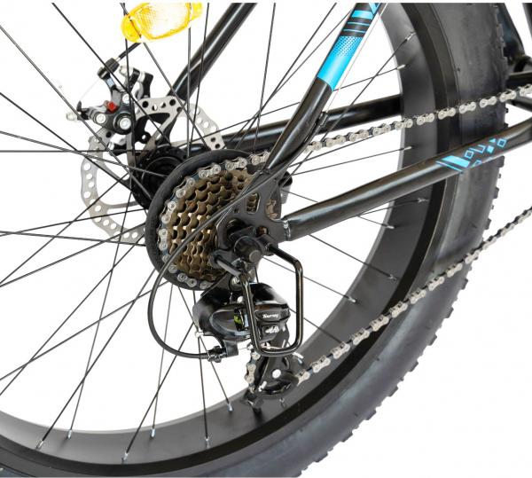 Bicicleta Fat Bike CARPAT Hercules 20 inch C2019B, frane mecanice disc, 6 viteze, culoare negru/albastru 9