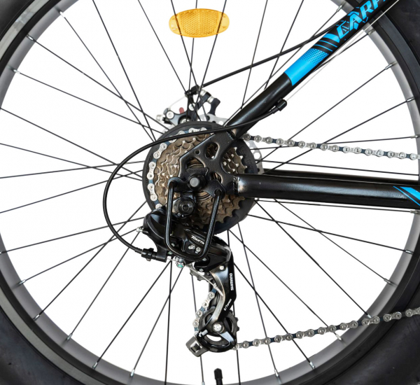Bicicleta Fat Bike CARPAT Hercules 20 inch C2019B, frane mecanice disc, 6 viteze, culoare negru/albastru 8