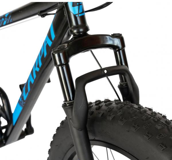 Bicicleta Fat Bike CARPAT Hercules 20 inch C2019B, frane mecanice disc, 6 viteze, culoare negru/albastru 2