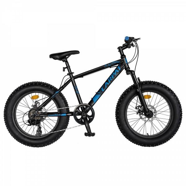 Bicicleta Fat Bike CARPAT Hercules 20 inch C2019B, frane mecanice disc, 6 viteze, culoare negru/albastru 0