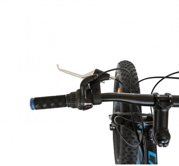 Bicicleta Fat Bike CARPAT Hercules 20 inch C2019B, frane mecanice disc, 6 viteze, culoare negru/albastru 4