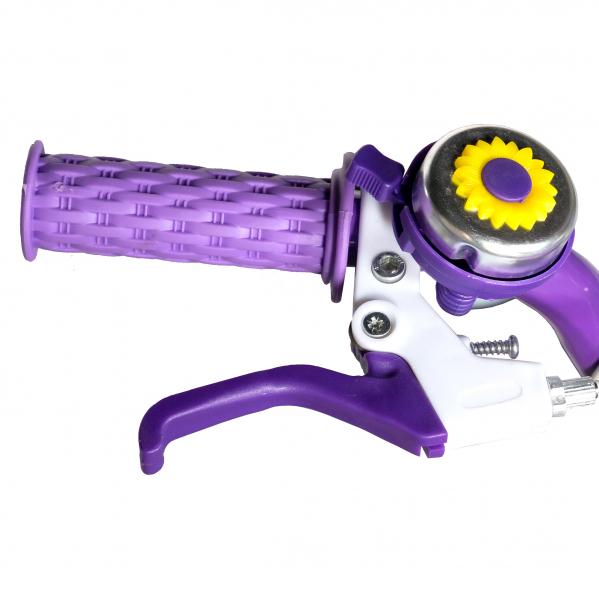 "Bicicleta fete Rich Baby T1205C, roata 12"", C-Brake,  roti ajutatoare, 2-4 ani, mov/alb 6"