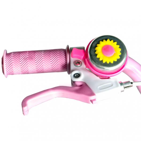 "Bicicleta fete Rich Baby T1205C, roata 12"", C-Brake,  roti ajutatoare, 2-4 ani, roz/alb [6]"