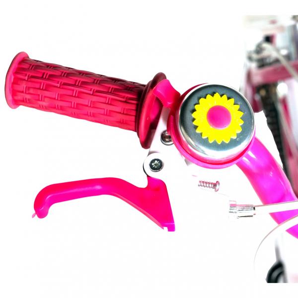 "Bicicleta fete Rich Baby T1605C, roata 16"", C-Brake,  roti ajutatoare, 4-6 ani, fucsia/alb [6]"