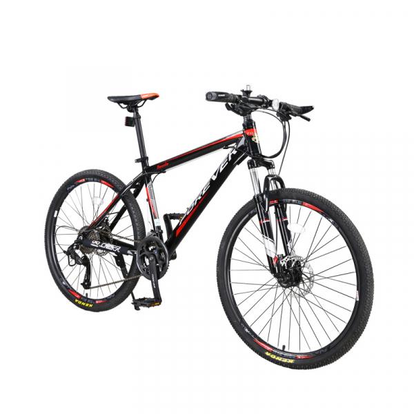 """Bicicleta MTB-HT Forever F24T1B, roata 24"""", cadru aluminiu, 27 viteze, culoare negru/rosu 1"""