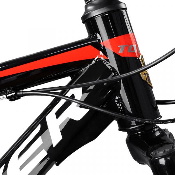 """Bicicleta MTB-HT Forever F24T1B, roata 24"""", cadru aluminiu, 27 viteze, culoare negru/rosu 3"""