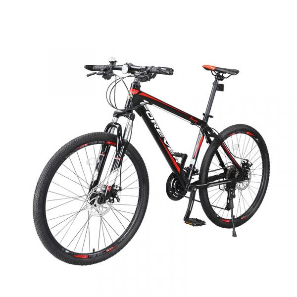 """Bicicleta MTB-HT Forever F24T1B, roata 24"""", cadru aluminiu, 27 viteze, culoare negru/rosu 2"""