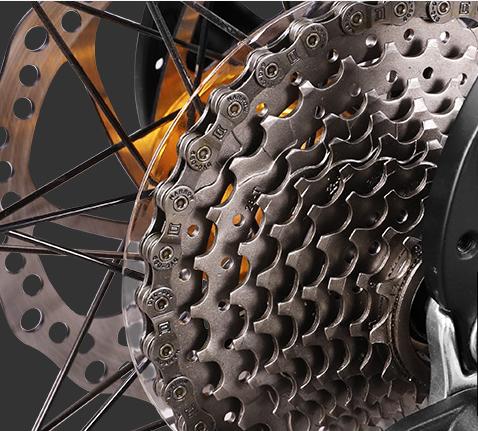 """Bicicleta MTB-HT Forever F26R7B, roata 26"""", cadru aluminiu, 27 viteze, culoare negru/rosu 5"""