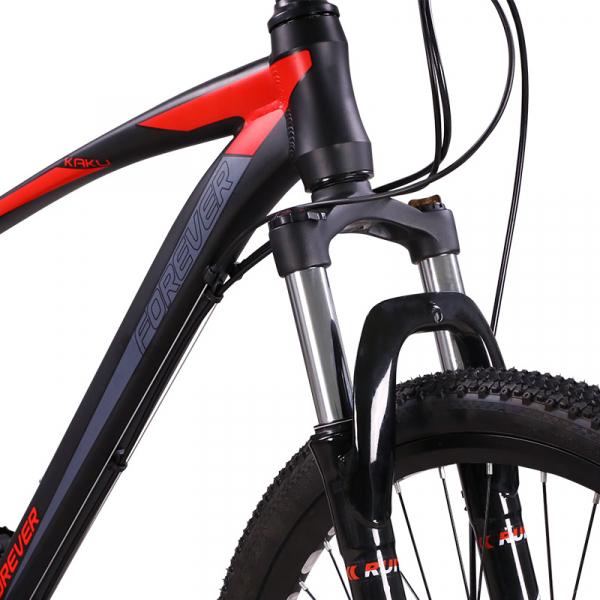"""Bicicleta MTB-HT Forever F26R7B, roata 26"""", cadru aluminiu, 27 viteze, culoare negru/rosu 3"""