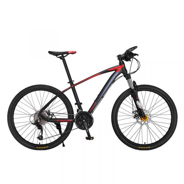 """Bicicleta MTB-HT Forever F26R7B, roata 26"""", cadru aluminiu, 27 viteze, culoare negru/rosu 0"""