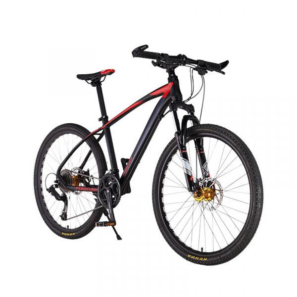 """Bicicleta MTB-HT Forever F26R7B, roata 26"""", cadru aluminiu, 27 viteze, culoare negru/rosu 1"""