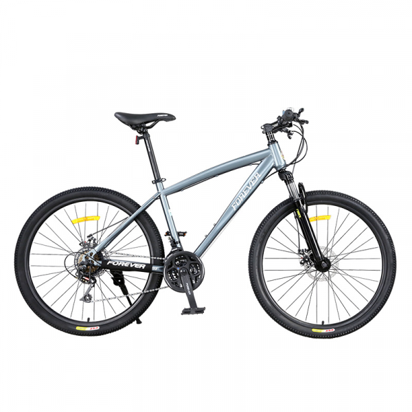 """Bicicleta MTB-HT Forever F26S1B, roata 26"""", cadru aluminiu, 27 viteze, culoare gri/alb 0"""