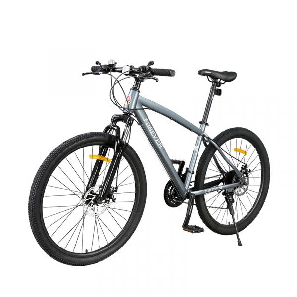 """Bicicleta MTB-HT Forever F26S1B, roata 26"""", cadru aluminiu, 27 viteze, culoare gri/alb 1"""
