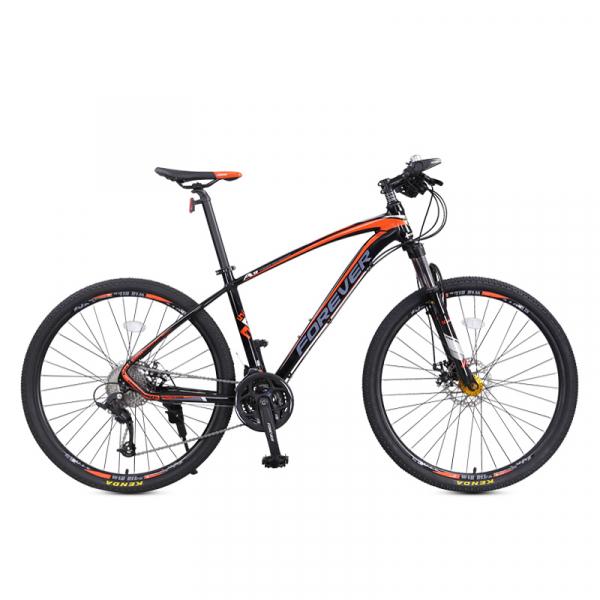 """Bicicleta MTB-HT Forever F27A9B, roata 27.5"""", cadru aluminiu, 27 viteze, culoare negru/rosu [0]"""