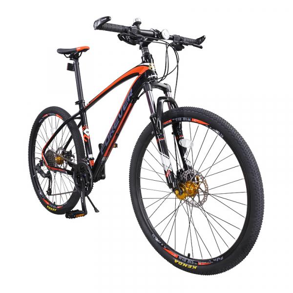 """Bicicleta MTB-HT Forever F27A9B, roata 27.5"""", cadru aluminiu, 27 viteze, culoare negru/rosu 1"""