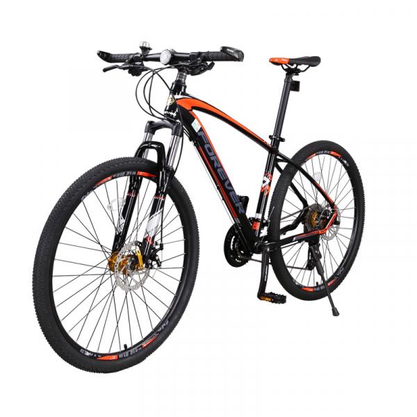 """Bicicleta MTB-HT Forever F27A9B, roata 27.5"""", cadru aluminiu, 27 viteze, culoare negru/rosu 2"""