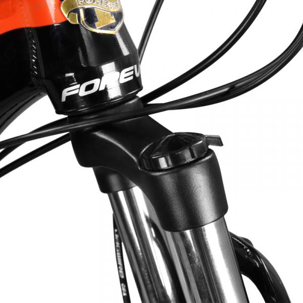 """Bicicleta MTB-HT Forever F27A9B, roata 27.5"""", cadru aluminiu, 27 viteze, culoare negru/rosu [4]"""