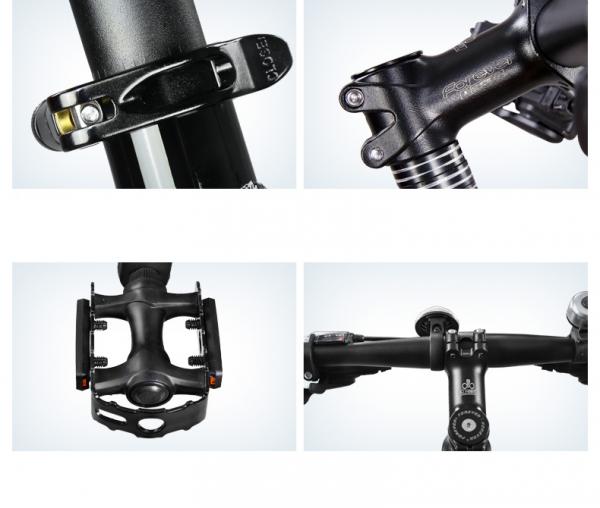 """Bicicleta MTB-HT Forever F27A9B, roata 27.5"""", cadru aluminiu, 27 viteze, culoare negru/rosu 10"""