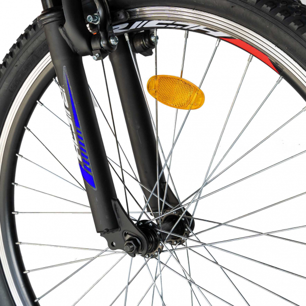 """Bicicleta munte, dubla suspensie, RICH R2649A, roata 26"""", frana V-Brake, 18 viteze, negru / rosu 8"""