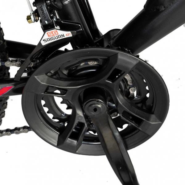 """Bicicleta munte, dubla suspensie, RICH R2649A, roata 26"""", frana V-Brake, 18 viteze, negru / rosu 3"""