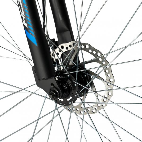 """Bicicleta munte, dubla suspensie, RICH R2750D, roata 27.5"""", frana disc, 18 viteze, negru/albastru 7"""
