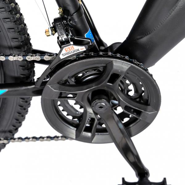 """Bicicleta munte, dubla suspensie, RICH R2750D, roata 27.5"""", frana disc, 18 viteze, negru/albastru 5"""