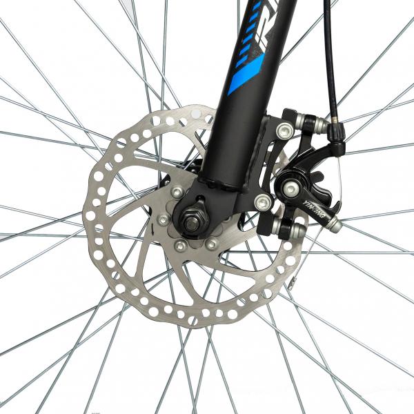 """Bicicleta munte, dubla suspensie, RICH R2750D, roata 27.5"""", frana disc, 18 viteze, negru/albastru 9"""