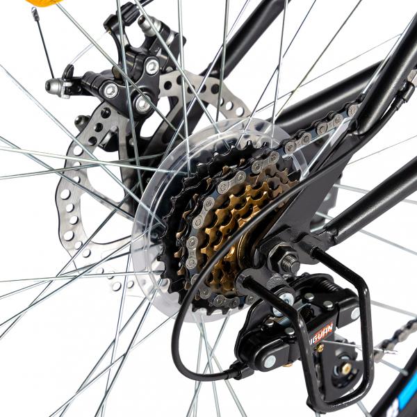 """Bicicleta munte, dubla suspensie, RICH R2750D, roata 27.5"""", frana disc, 18 viteze, negru/albastru 2"""