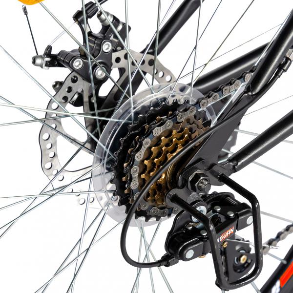 """Bicicleta munte, dubla suspensie, RICH R2750D, roata 27.5"""", frana disc, 18 viteze, negru/rosu 2"""