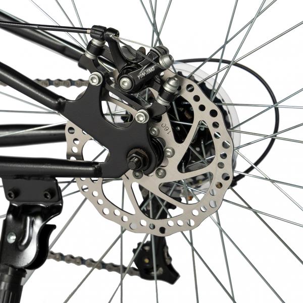 """Bicicleta munte, dubla suspensie, RICH R2750D, roata 27.5"""", frana disc, 18 viteze, negru/rosu 7"""