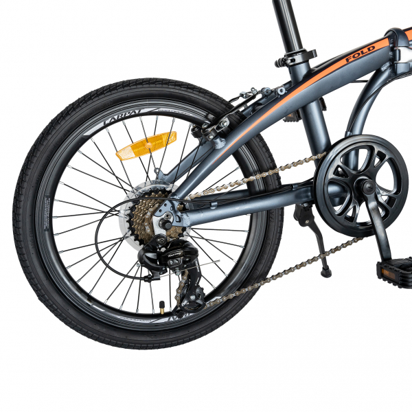 """Bicicleta pliabila 20"""" CARPAT C2052C, echipare SHIMANO 7 viteze, culoare gri/portocaliu [5]"""
