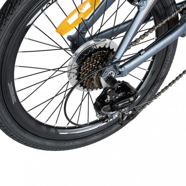 """Bicicleta pliabila 20"""" CARPAT C2052C, echipare SHIMANO 7 viteze, culoare gri/portocaliu [3]"""