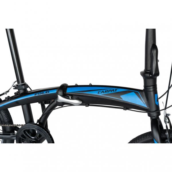 """Bicicleta pliabila 20"""" CARPAT C2052C, echipare SHIMANO 7 viteze, culoare negru/albastru 8"""