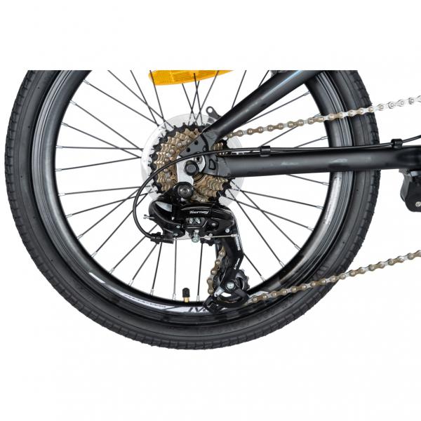 """Bicicleta pliabila 20"""" CARPAT C2052C, echipare SHIMANO 7 viteze, culoare negru/albastru 3"""
