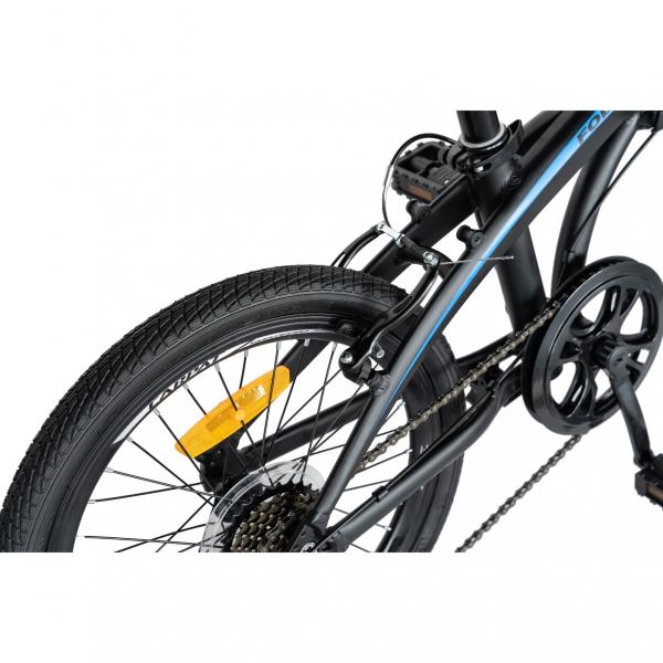 """Bicicleta pliabila 20"""" CARPAT C2052C, echipare SHIMANO 7 viteze, culoare negru/albastru 6"""