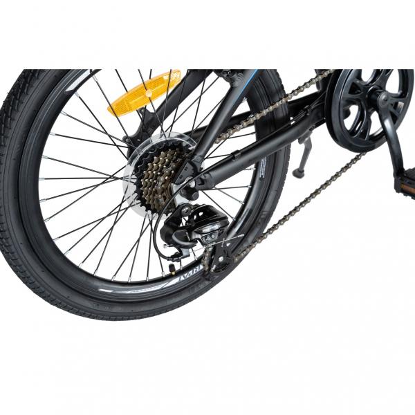 """Bicicleta pliabila 20"""" CARPAT C2052C, echipare SHIMANO 7 viteze, culoare negru/albastru 2"""