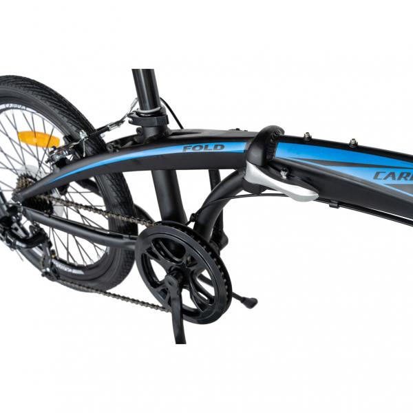 """Bicicleta pliabila 20"""" CARPAT C2052C, echipare SHIMANO 7 viteze, culoare negru/albastru 9"""